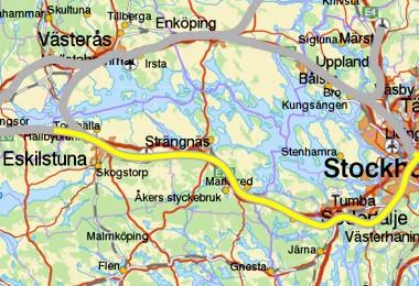 Kungsør - Eskilstuna - Stockholm C