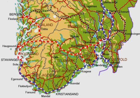 oslo bergen kart Haukelibana – ei unik løysing for jernbane Oslo – Bergen   Aktuelt  oslo bergen kart
