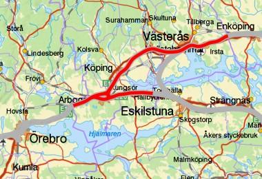 Arboga - Västerås - Kungsör