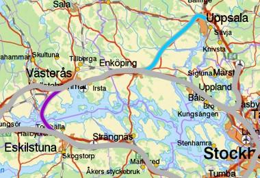 Enköping - Uppsala og Västerås - Eskilstuna